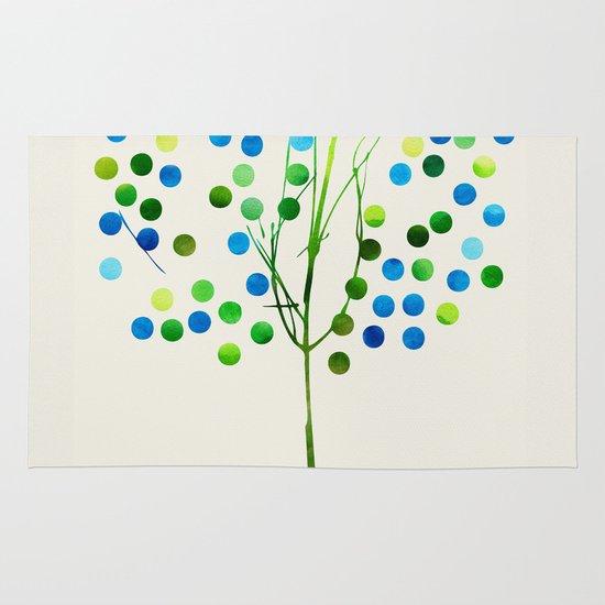 Tree of Life Aqua  by Jacqueline Maldonado & Garima Dhawan Area & Throw Rug