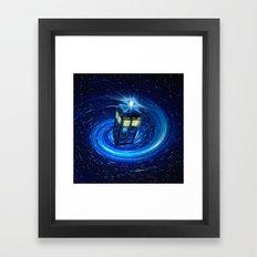 Tardis Blue Vortex Framed Art Print
