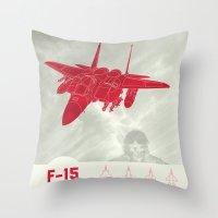 F-15 Throw Pillow
