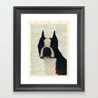 American Gentleman Framed Art Print
