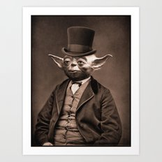 Portrait of Sir Yoda Art Print