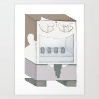 Friendly Vending Machine Art Print