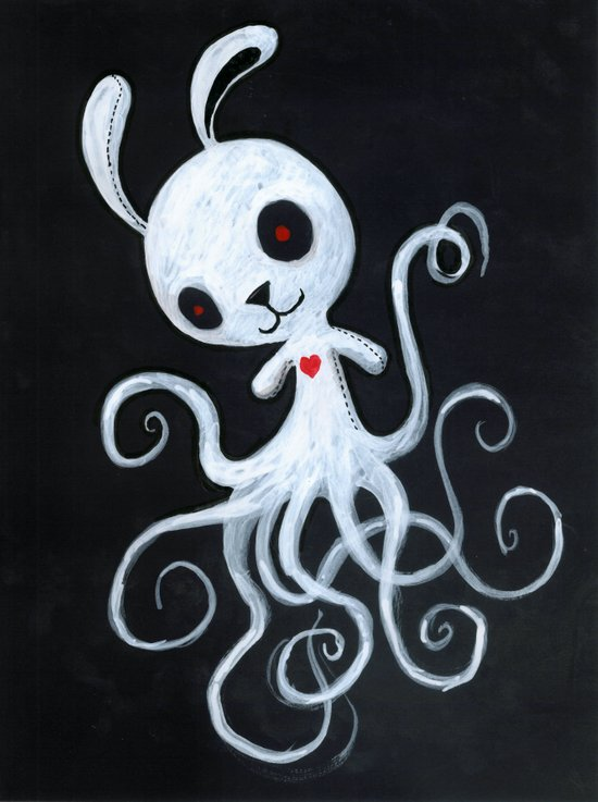 bunnnypus in the dark Art Print