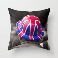 A Patriotic Boy Throw Pillow