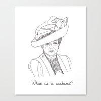 Dowager Countess Of Gran… Canvas Print