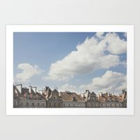 Summer in the city Art Print