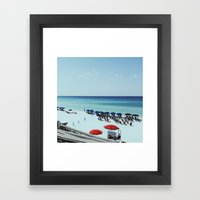 Day At The Beach Serie #… Framed Art Print