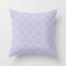 Quatrefoil - Lavender Throw Pillow