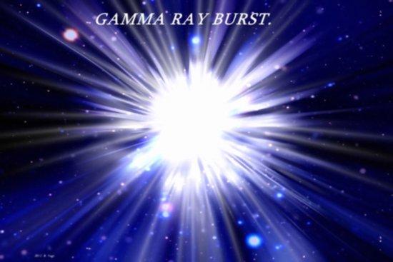 GAMMA RAY BURST. Art Print