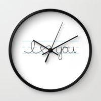 I Heart ( Love ) You Wall Clock