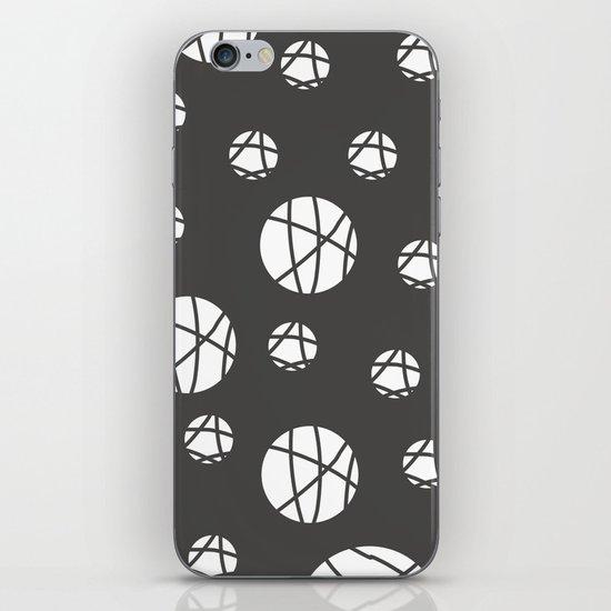 Broken Orbs (WhiteOnGray) iPhone & iPod Skin
