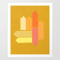 Blocks Art Print