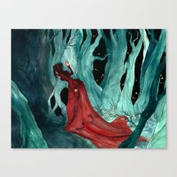 Snow White Lost In The W… Canvas Print