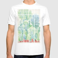 Winter in Glass Houses I SMALL Mens Fitted Tee White