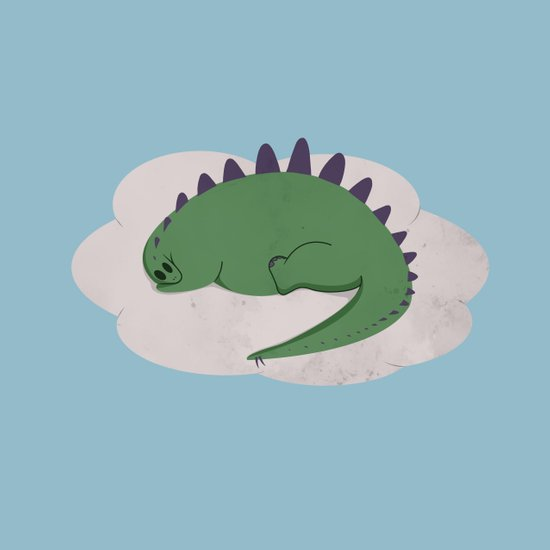 Asleep on a Cloud.  Art Print