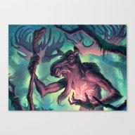Canvas Print featuring Moose Shamman by Joel Hustak