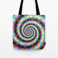 Psychedelic Twist Tote Bag