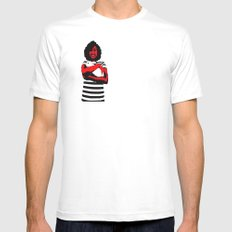 The Rabbit White Mens Fitted Tee SMALL