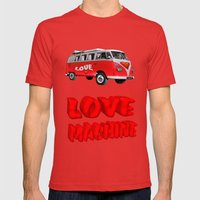 Love Machine  Mens Fitted Tee Red SMALL