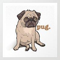 Lilly (pug) Art Print