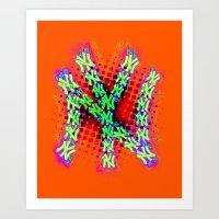 Neon York Art Print