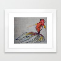 Goldfish Pond (close up#2) Framed Art Print