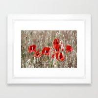 Poppies  - JUSTART © Framed Art Print