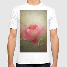 Rose ( with ladybird ) SMALL Mens Fitted Tee White