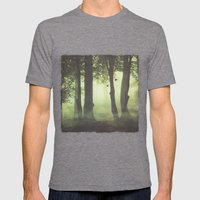 Wispy Forest Mists Mens Fitted Tee Tri-Grey SMALL