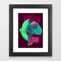 Hiding Tonight Framed Art Print