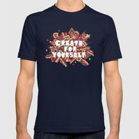 Create For Yourself (1) Mens Fitted Tee Navy SMALL