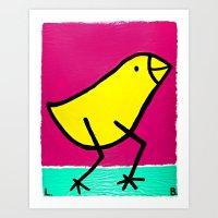 L. Bird Art Print