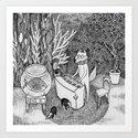 Fox Piano Art Print