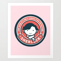 Sherlock - Cute Sherlock… Art Print