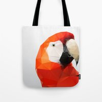 Geo - Parrot Red Tote Bag
