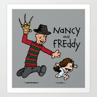 Nancy And Freddy Art Print