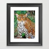 Mesmerizing Jaguar Framed Art Print
