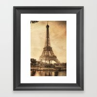 Vintage Eiffel Tower 2 Framed Art Print