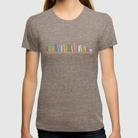 Books Womens Fitted Tee Tri-Coffee SMALL
