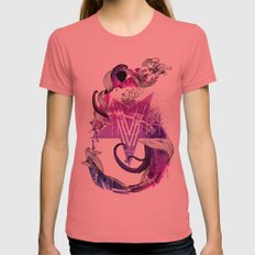 The Number Five Womens Fitted Tee Pomegranate SMALL