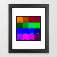 Blue, Pink, Yellow, Gree… Framed Art Print
