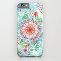 Messy Boho Floral in Rainbow Hues iPhone 6 Slim Case