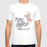 Happy Knight  Mens Fitted Tee White SMALL