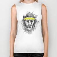 Hipster Lion Biker Tank