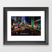 Psychedellic City Framed Art Print