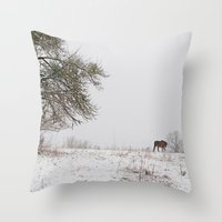 Lonely this christmas Throw Pillow