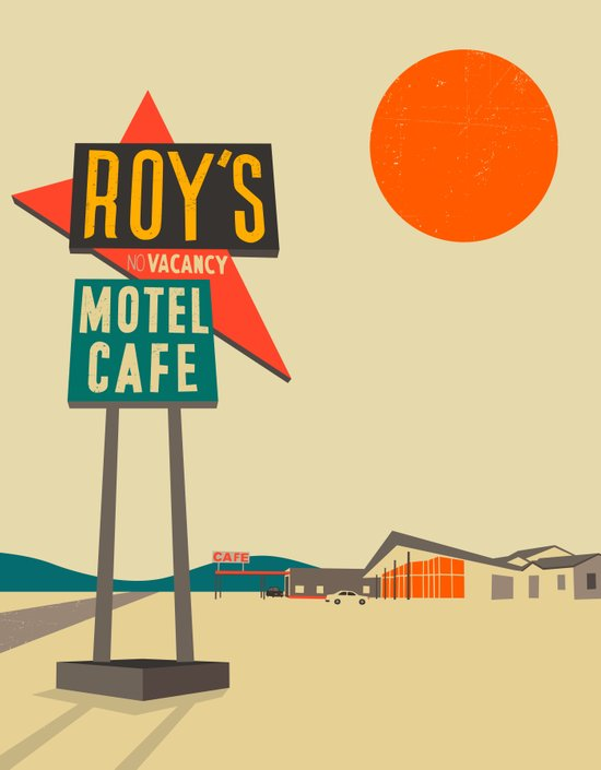Roy's Cafe, Route 66 Art Print