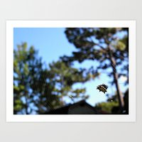 A spider and its web Art Print