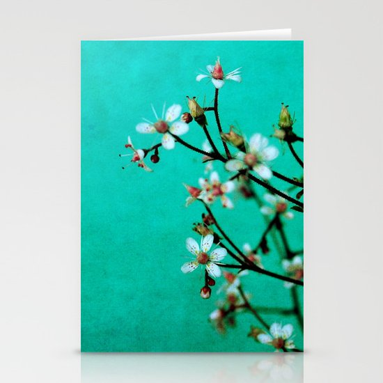 moody florets Stationery Card