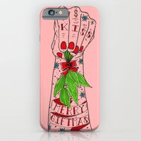 iPhone & iPod Case featuring Merry Giftmas Kiss by scoobtoobins